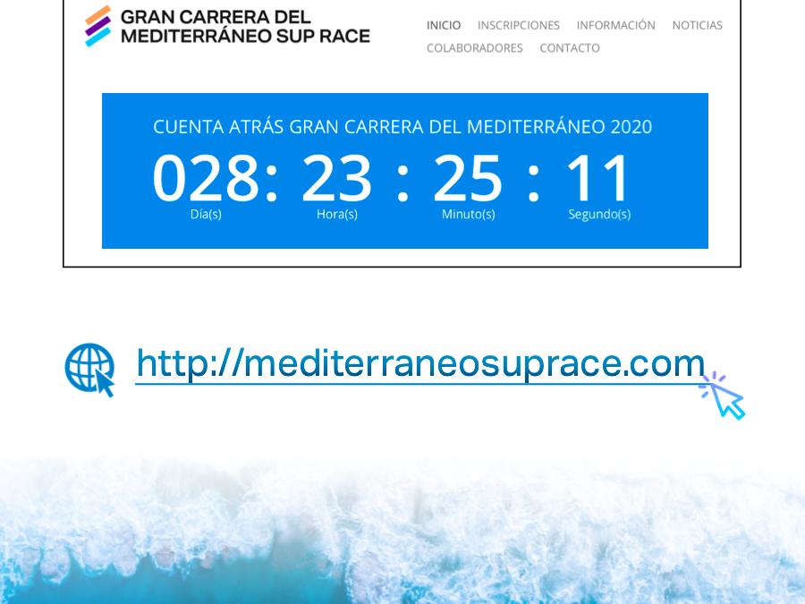 """INAUGURACIÓN WEB DE """"LA GRAN CARRERA DEL MEDITERRÁNEO SUP RACE"""""""